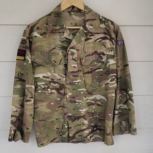 British military shirt with patches